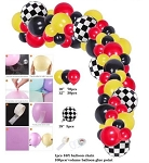 Race car checker balloon garland
